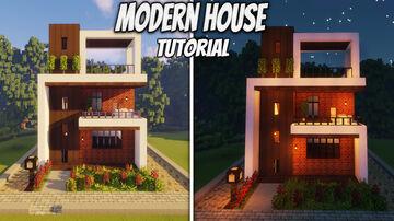 Minecraft : Modern House Minecraft Map & Project