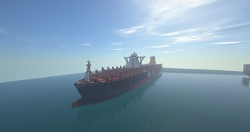 container ship MSC OSCAR 1:1 Minecraft Map & Project
