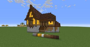 Yellow Tudor House Minecraft Map & Project