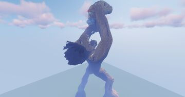 Attack on Titan - Eren Eats Warhammer Titan Build Minecraft Map & Project