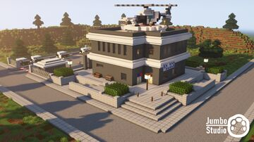 A Police Station Minecraft Map & Project