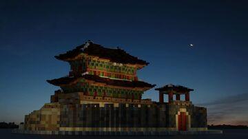 Paldalmun Gate in Suwon, South Korea (수원시 팔달문) Minecraft Map & Project
