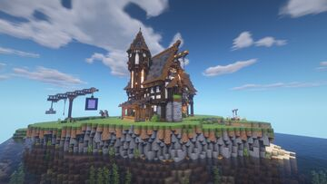 Fantasy-Medieval Island House Minecraft Map & Project