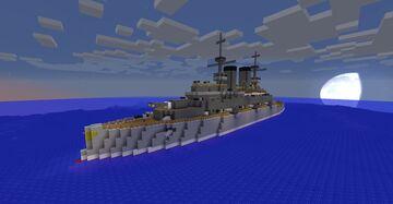 Kaiser Friedrich III Class Battleship Minecraft Map & Project