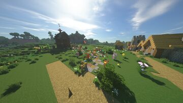 Survival house whit garden Minecraft Map & Project