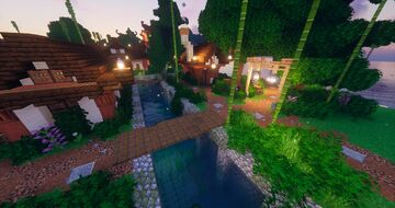 Atarashi Canals | Japanese themed Minecraft Village | Builder's Forge Minecraft Map & Project