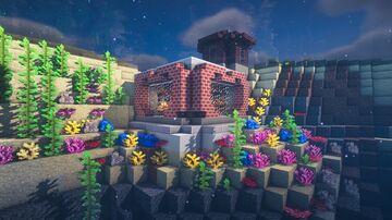 Minecraft | How To Build UnderWater Cabin - Tutorial Minecraft Map & Project
