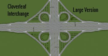 Cloverleaf Interchange (Large Version) Minecraft Map & Project