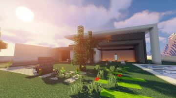 Cool Modern House Minecraft Map & Project