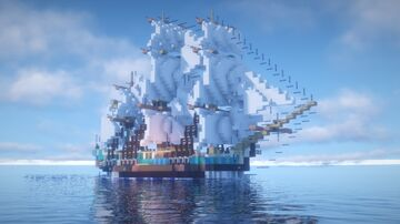 1.5:1 Scale HMS Bounty Minecraft Map & Project