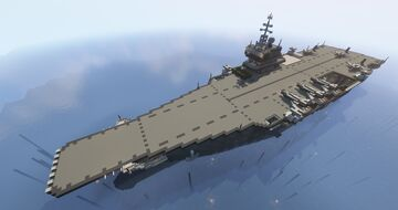 Aircraft Carrier Mark.I by FIRST553 (Full Interior) Minecraft Map & Project
