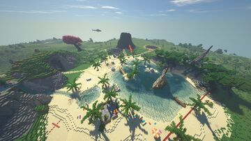 Exotic Beach Minecraft Map & Project