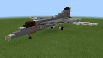 1.5:1 scale MiG-27 Flogger-D/J Minecraft Map & Project