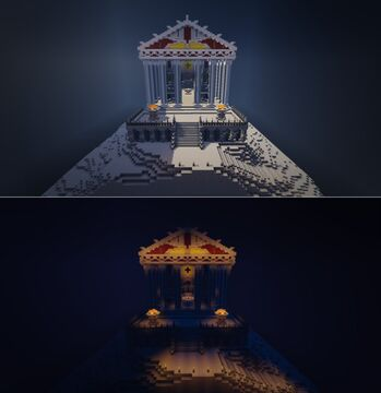 Greek Temple of Asklepios Minecraft Map & Project