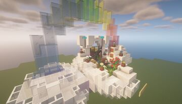 """Shrine for your deeply departed love ones - The theme is """"Rainbows in the Sky"""" Minecraft Map & Project"""