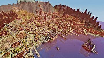 epic medieval city with redstone surprises - ville médiévale - mittelalter Stadt Minecraft Map & Project