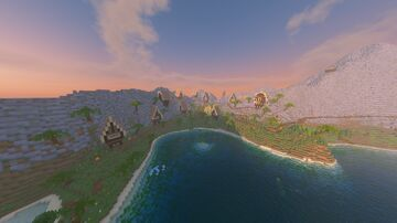 A Pirat Island with an extra floting island and a underwater Cave Minecraft Map & Project