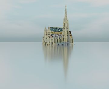 Stephansdom 1:1 scale in Minecraft Alps BTE Minecraft Map & Project