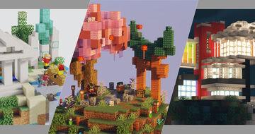 ☁️ 3 Starter Island Skyblock ☁️ -⛩️Japan   🔱Greek   🌃CyberPunk Minecraft Map & Project