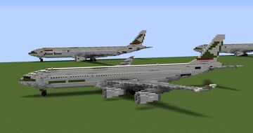 Cathay Pacific Airbus A340-211 Minecraft Map & Project