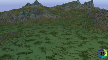 Custom Mossy Mountain Range | 2048x2048 [Free Download] Minecraft Map & Project