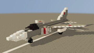 SU 24 Sukhoi Soviet jet Minecraft Map & Project