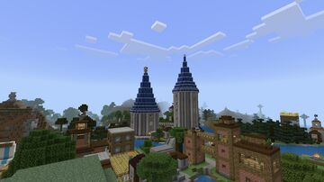 """Lapis Towers (""""Build World-old"""") [1/4 Restored Worlds Preservation Project] {Tested on 1.17.40} Minecraft Map & Project"""