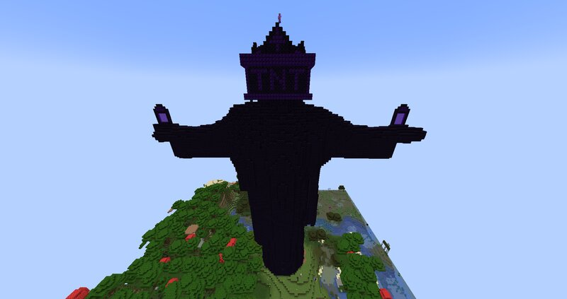 The Fraternity Jesus - the First Obsidian Statue on PhoenixAnarchy (1.17 Anarchy Server)