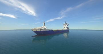 container ship HELENA SCHEPERS 1:1 Minecraft Map & Project