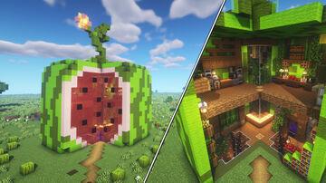 Minecraft Watermelon House Minecraft Map & Project