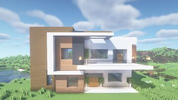 Modern House #4. (For Java & Bedrock) Minecraft Map & Project