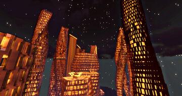 My unique and more futuristic skyscraper design Minecraft Map & Project