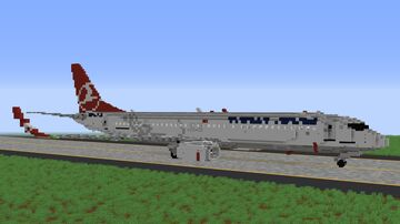 Turkish Airlines Boeing 737-900ER - 3:1 Scale Minecraft Map & Project