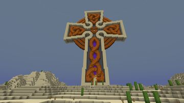 Desert concepted giant cross (including nether portal) Minecraft Map & Project