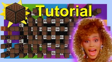 """Whitney Houston Note Block Tutorial """"I Wanna Dance With Somebody"""" Minecraft Map & Project"""