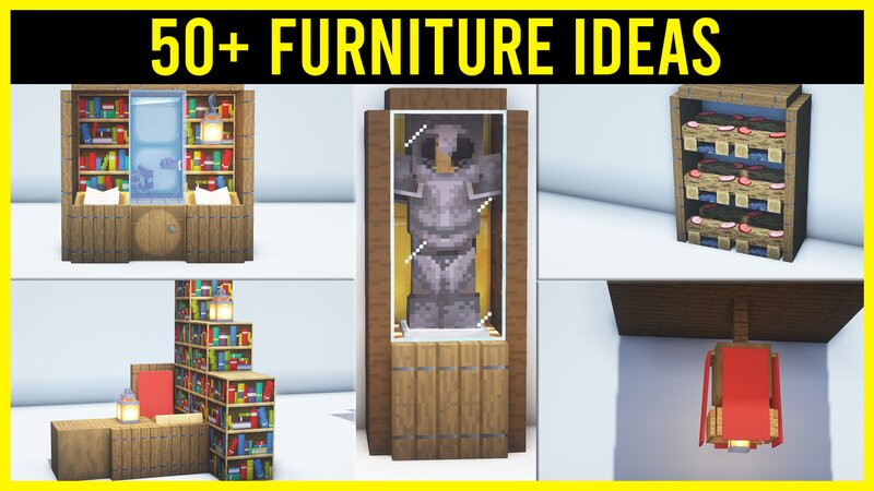 ⚒️ Minecraft 50+ Furniture Ideas You Need to Know