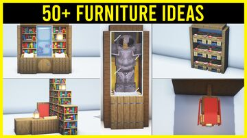 ⚒️ Minecraft 50+ Furniture Ideas You Need to Know Minecraft Map & Project