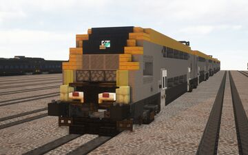 1.5:1 Scale Minecraft Stadler Kiss - Custom Voxel Town Livery Minecraft Map & Project