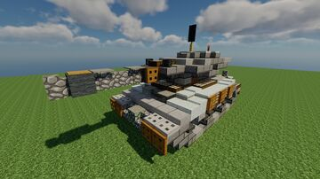 MMT-21 / Med. Tank / Fictional / Schematic 1.12.2 Minecraft Map & Project