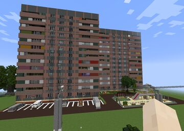 RESIDENCE SOVIET APARTMENT 12 FLOORS by Anderbest Minecraft Map & Project