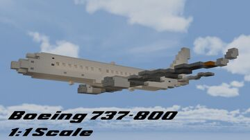 Boeing 737-800 1:1 Scale Minecraft Map & Project