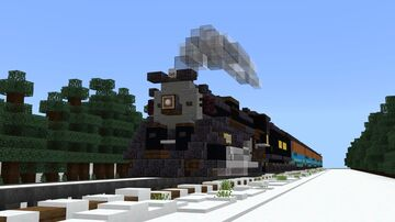 Pere Marquette N-1 2-8-4 Berkshire 1225 (Polar Express) Minecraft Map & Project