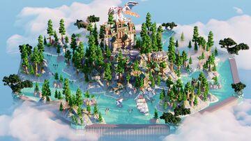 Hub Lobby •|• Medieval Village 600x600 Minecraft Map & Project