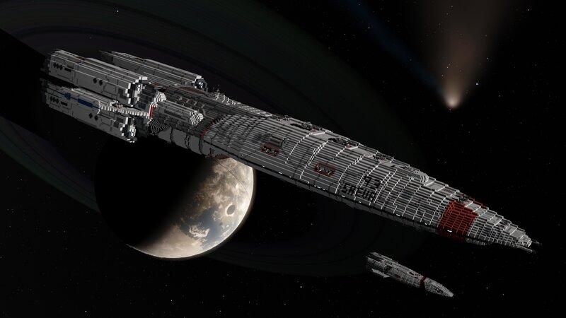 ADS Saeva in orbit of Hadria with ADS Concordia