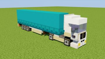 1:1 EU Semi-Trailer Truck Minecraft Map & Project