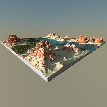 Desert 2k by 2k Minecraft Map & Project