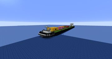 container ship SENDO LINER 1:1 Minecraft Map & Project