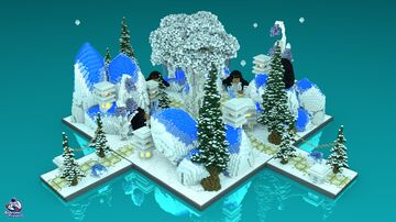 HCF Spawn + Road – WINTER Theme Minecraft Map & Project