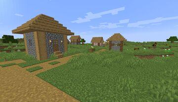 Village Near Spawn SEED Minecraft Map & Project