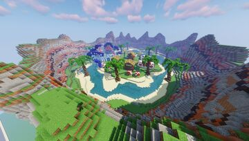 HydraCraft    Pokemon Water Gym Spawn - Gym - City - Town (Discord for commissions) Minecraft Map & Project